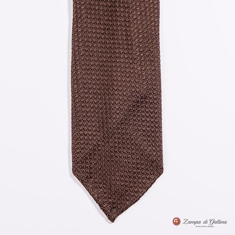 Unlined Brown Large Garza Francesco Marino Napoli Tie