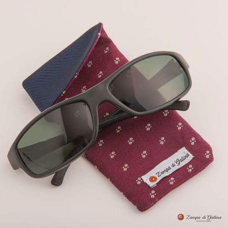 Burgundy with patterns double-sided Eyewear Pocket Square
