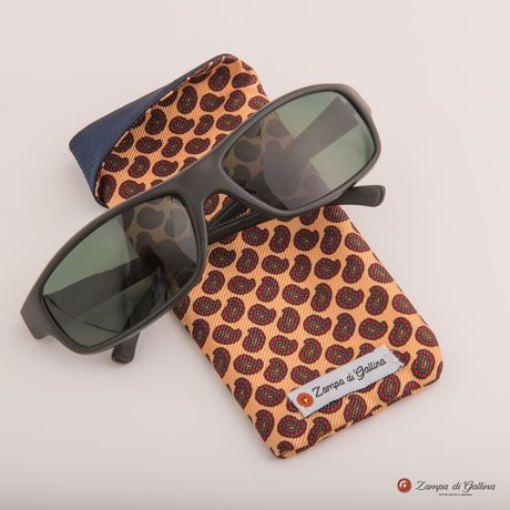 Salmon with paisley patterns double-sided Eyewear Pocket Square